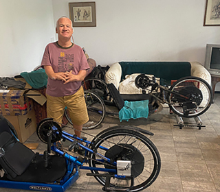 MWA 2020 - Andrew Paddison with bicycles