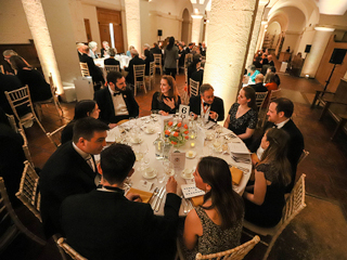 350th Anniversary at St Pauls - dinner in the crypt