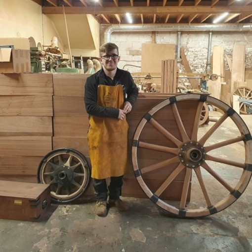 Apprentice Sam Philips at Mike Rowland & Son