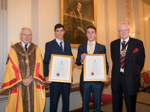 Apprentices with Master and Lord Mayor - 03 Oct 2017