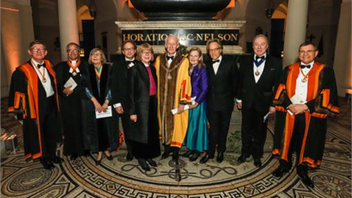 Master, Wardens and guests at St Pauls