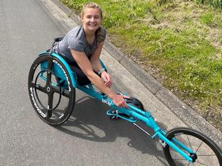 Melanies Story - in racing wheelchair